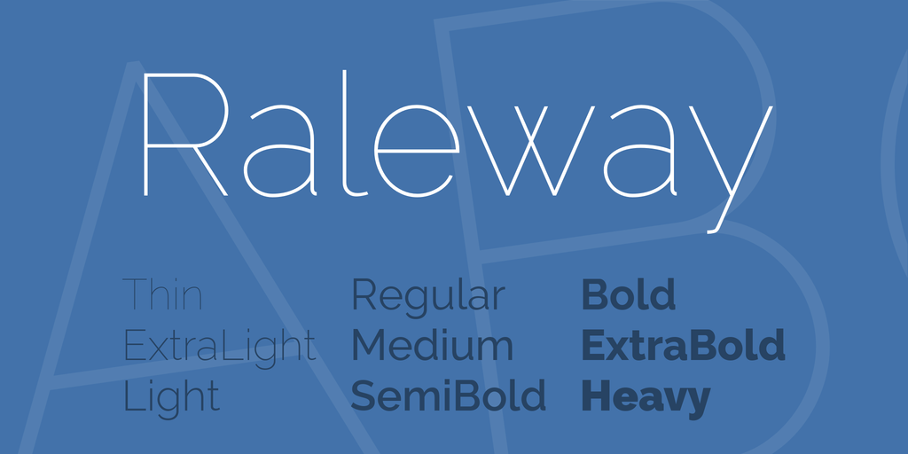 Raleway by The League of Moveable Type
