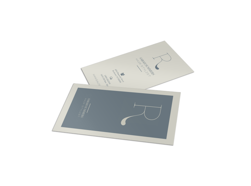 Sophisticated Stylist Business Card Template