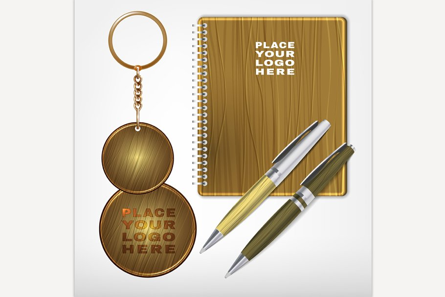 Wooden Promo Set by Anna's Shop - Creative Market