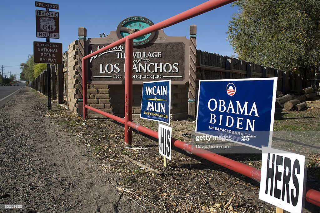 His and Hers Campaign Signs Image