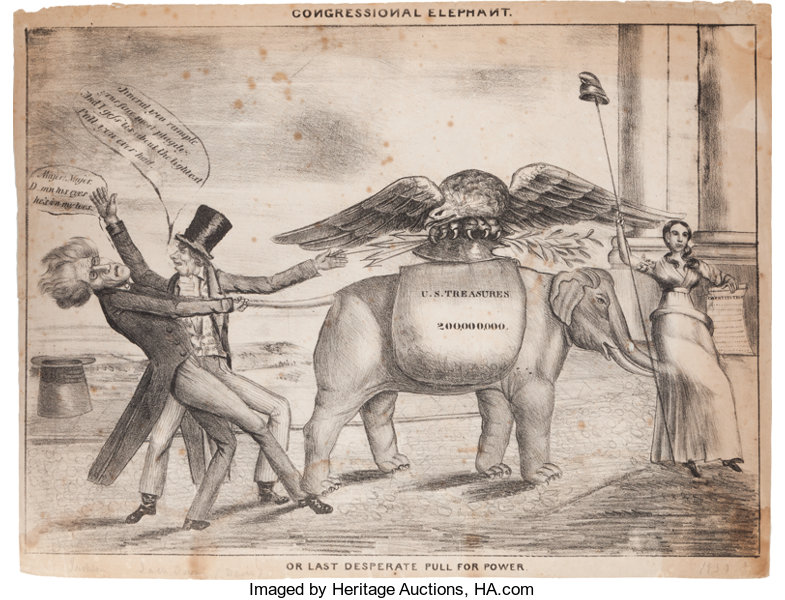 Anti-Jackson Political Cartoon