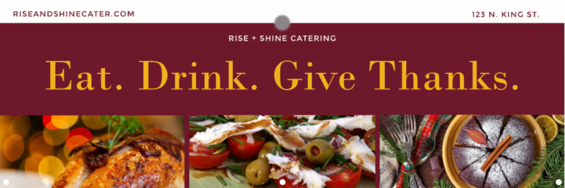 Eat. Drink. Give Thanks. Thanksgiving Banner Image