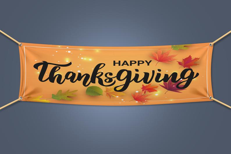 Happy Thanksgiving Banner Image from Etsy