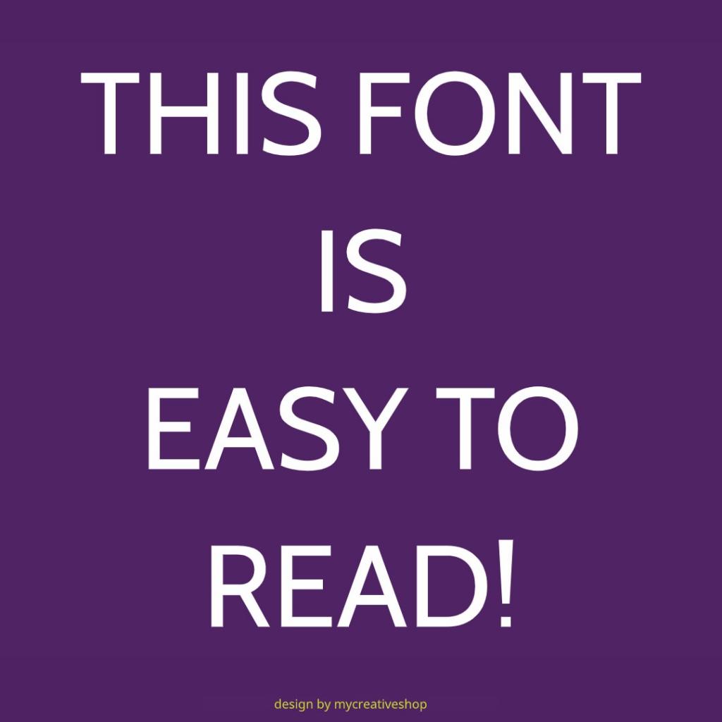 Sans Serif Font Example Graphic
