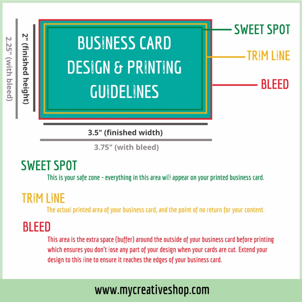 Business Card Design and Print Guidelines