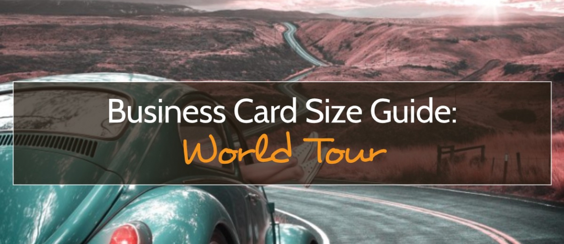 Business Cards Around the World Title Graphic