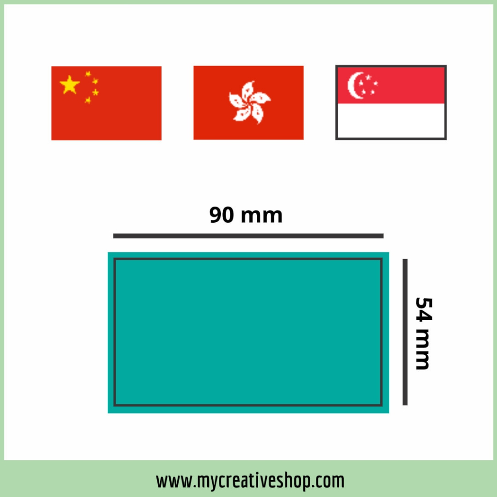 China HK Singapore Business Card Size Graphic