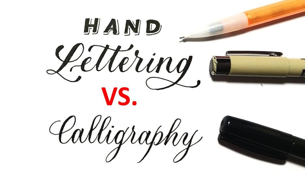Hand Lettering vs Calligraphy Image