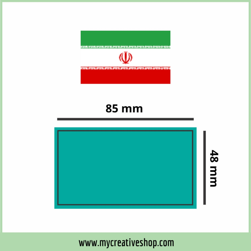 Iran Business Card Size Graphic