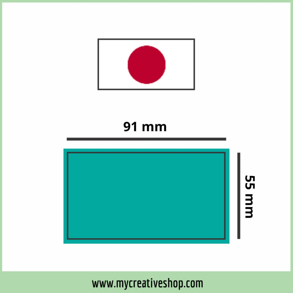 Japan Business Card Size Graphic