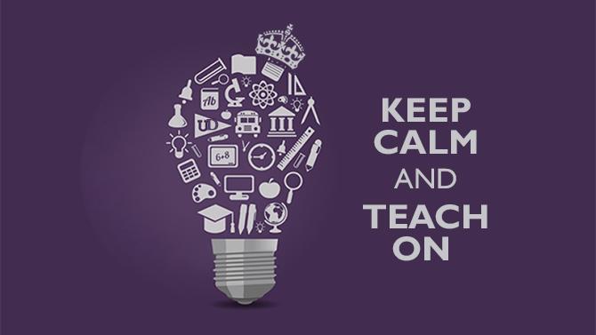 Keep Calm and Teach On Image
