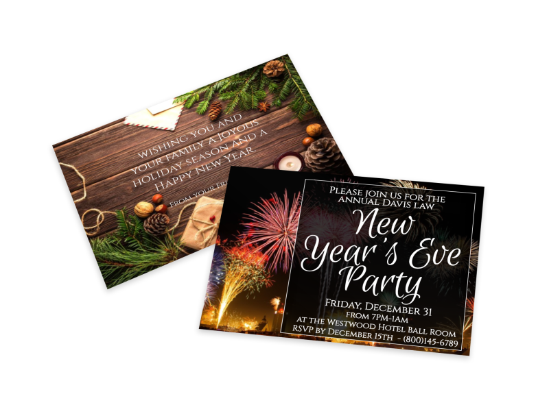 New Year's Eve Party Invitation Card Template 1
