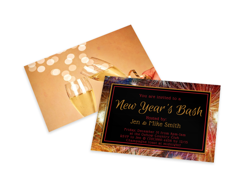 New Year's Eve Party Invitation Card Template 2