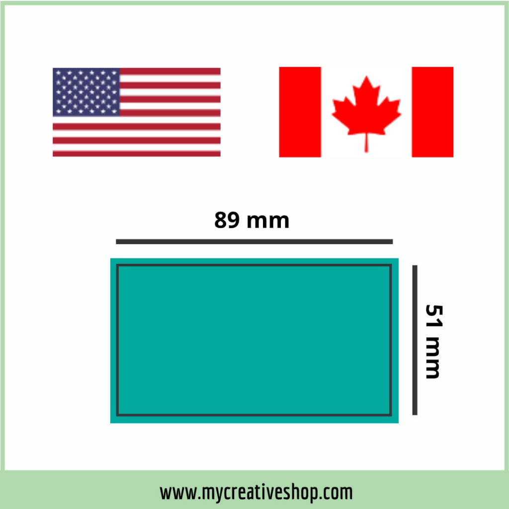 USA and Canada Business Card Size Graphic