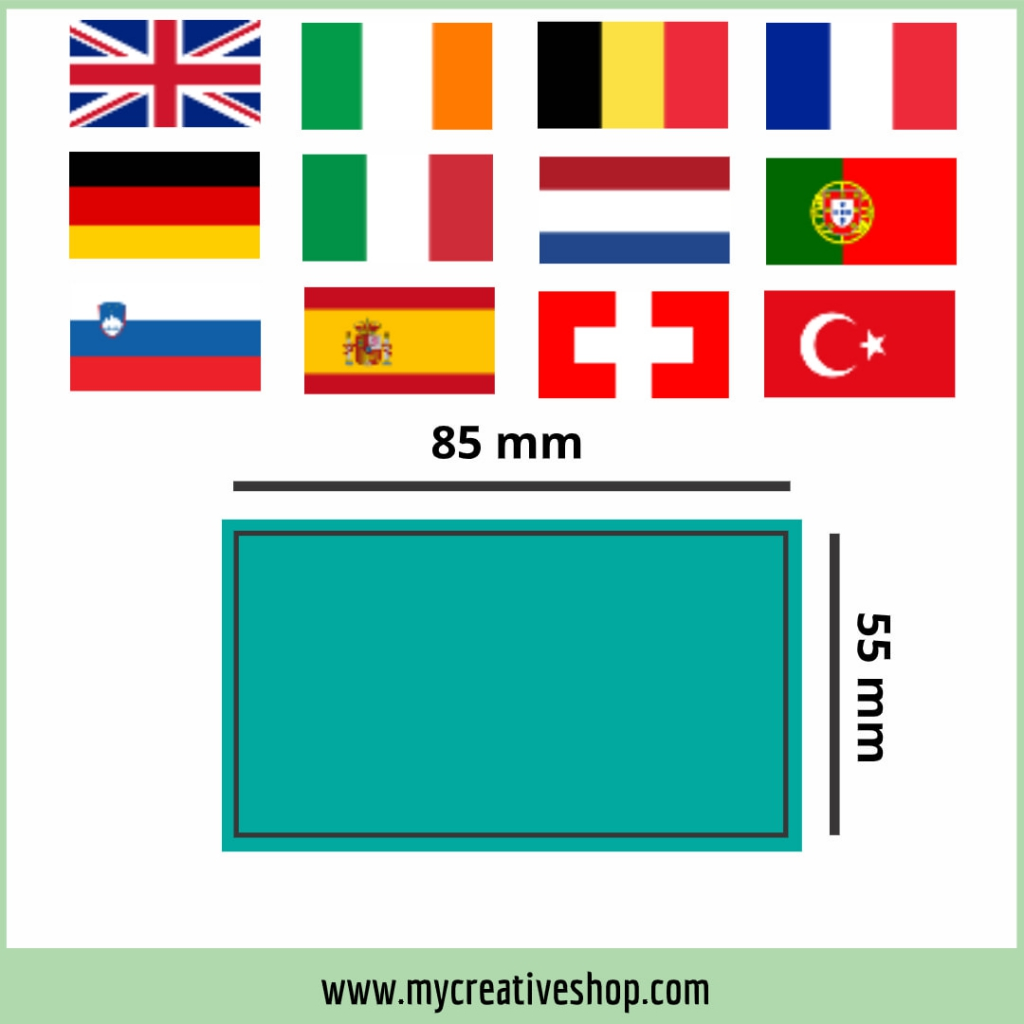 United Kingdom and Western Europe Business Card Size Graphic