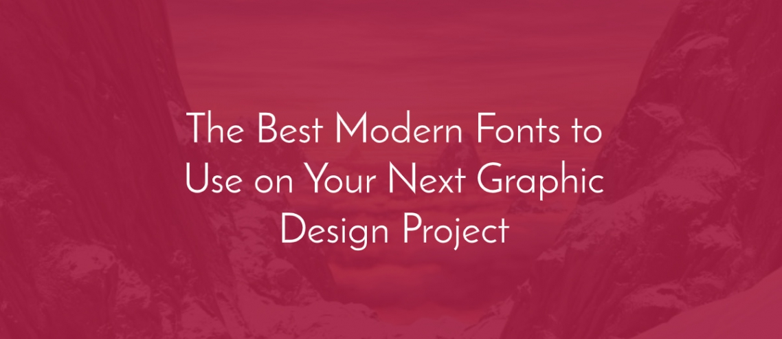 The best modern fonts