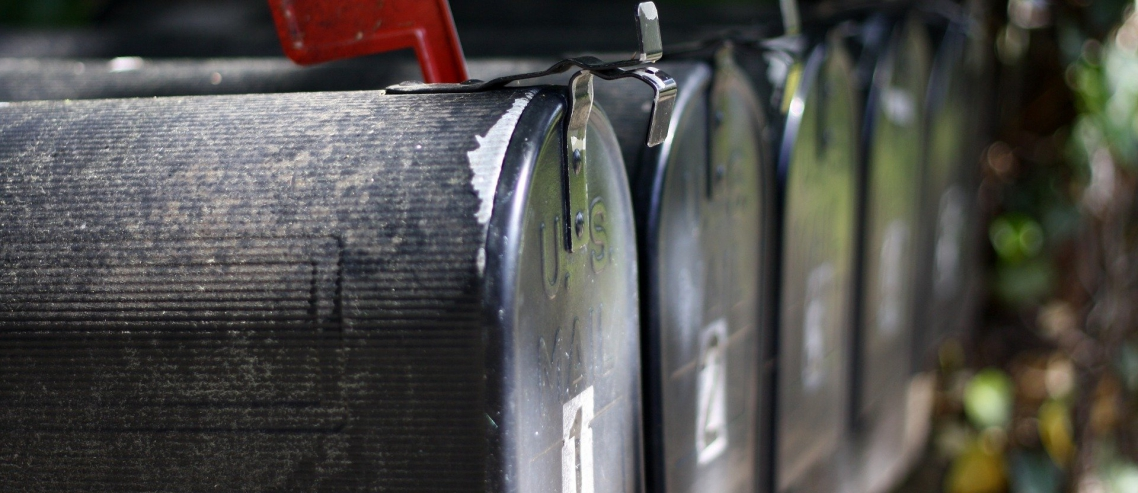 Row of Mailboxes Image